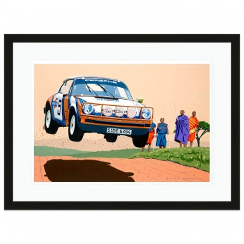 East African Safari Rally | 1978 Porsche 911 SC 3.0 | Artwork