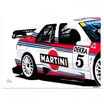 joel clark speed icons alfa romeo 155 dtm touring car art print