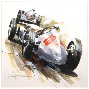 1938 German Grand Prix | Caracciola | Mercedes | Artwork