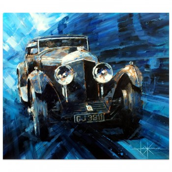 Out of the Blue | Woolf Barnato | Bentley Blue Train | Artwork