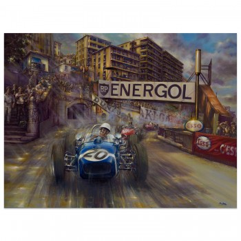 Catch me if you can | Stirling Moss | Lotus | Monaco Grand Prix 1961 | Artwork