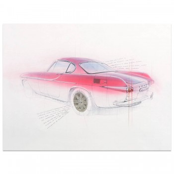Volvo P1800 Coupe | Art Print