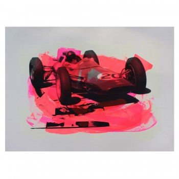 Jim Clark | Lotus 25 | British Grand Prix Aintree | Screenprint (#1)