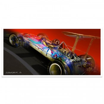 Graham Hill | Gold Leaf Lotus 49 | Monaco | Art Print