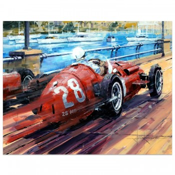 Tight Squeeze | Stirling Moss | Maserati | Monaco | Artwork