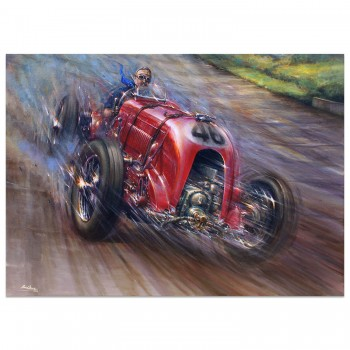 Full Throttle | Sir Henry Birkin | Blower Bentley | Brooklands | Artwork