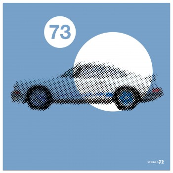 1973 Porsche 911 2.7 RS | Gulf Blue | Art Print