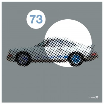 1973 Porsche 911 2.7 RS | Grey | Art Print