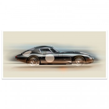 Jaguar E-Type Low Drag | Art Print