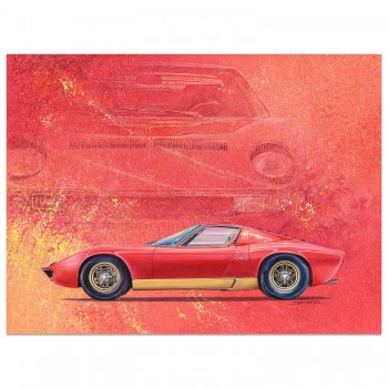 Lamborghini Prints Posters And Paintings Historic Car Art
