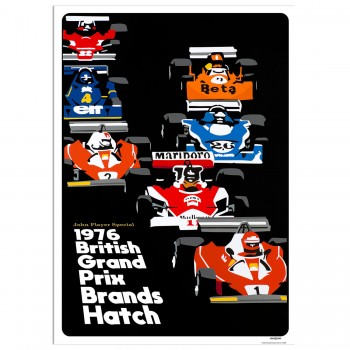 SPEED ICONS: British Grand Prix 1976 | Poster