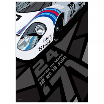 SPEED ICONS: Le Mans 24 Hours 1971 | Martini Porsche 917K | Poster