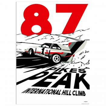 SPEED ICONS: Pikes Peak Hillclimb 1987 | Poster