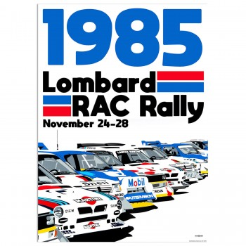 SPEED ICONS: Lombard RAC Rally 1985 | Poster