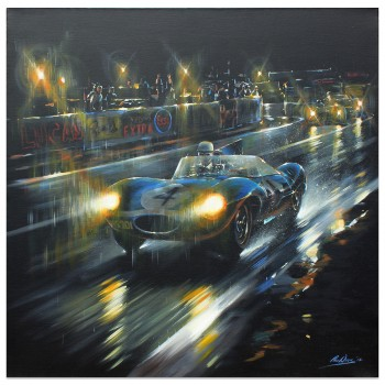Le Mans 24 Hours 1956 | Ecurie Ecosse | Jaguar D-Type | Artwork