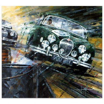 Full Tilt | Mike Hawthorn | Jaguar Mk1 | Artwork