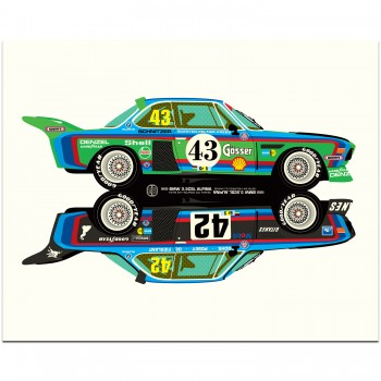 BMW 3.5CSL Rivals | Art Print
