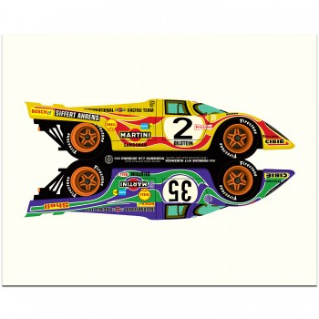 Porsche 917 Hippy Cars | Art Print