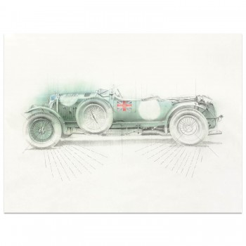 Blower Bentley 4½ Litre | Le Mans 24 Hours  | Art Print