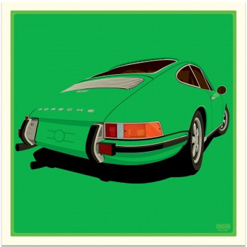 Porsche 911 Rear | Viper Green | Art Print
