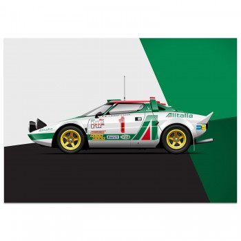Lancia Stratos - Rally Royalty | Art Print