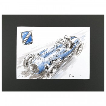 Talbot Lago T26 Monaco Grand Prix 1948 | Artwork