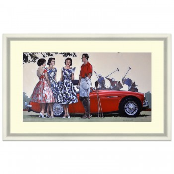 The New Boyfriend | Austin-Healey 100/6 | Polo | Painting