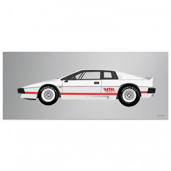 Lotus Esprit Turbo | White | Artwork