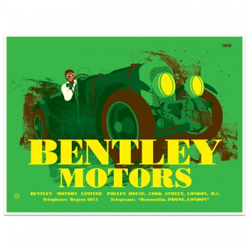Bentley Pre-war Advertising Poster | Art Print