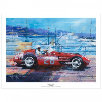 Harbour Master | Stirling Moss | Monaco GP | Maserati 250F | Art Print