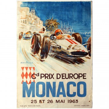 French | Monaco Grand Prix 1963 Race Poster