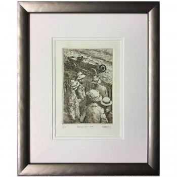 French GP 1914 | Peugeot | Etching