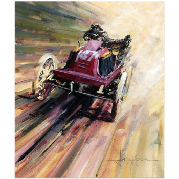 Small Car Victory | Renault | 1902 Paris-Vienna | Artwork