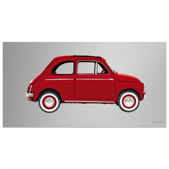 Fiat 500 | Red | Artwork