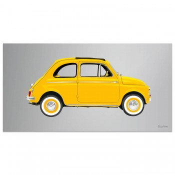 Fiat 500 | Yellow | Artwork