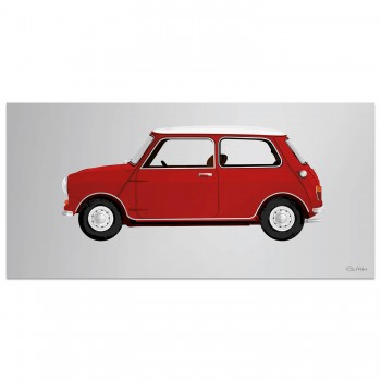 1960 Mini | Red | Artwork