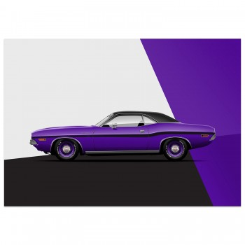 Dodge Challenger R/T  - Improved Muscle | Art Print