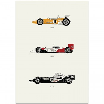 Yield the Track – McLaren Poster | Art Print