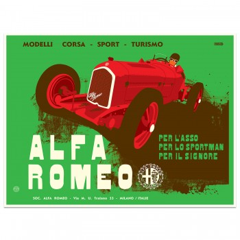 Alfa Romeo Pre-war Advertising Poster | Art Print