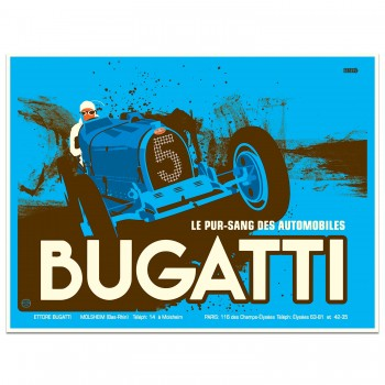 Bugatti Pre-war Advertising Poster | Art Print