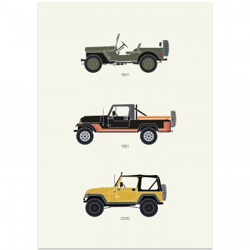 The Grandfather of 4X4 – Jeep Poster | Art Print