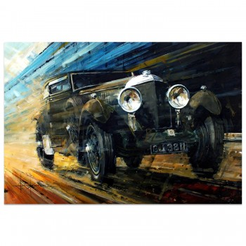 Blue Train Special | Bentley Speed Six | Woolf Barnato | Artwork
