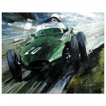The Winning Team | Vanwall | Moss | Aintree | Artwork
