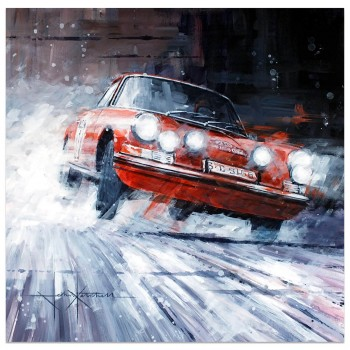 A Clear Winner | Monte Carlo Rally | Porsche 911T | Vic Elford | Artwork