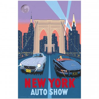 Mercedes 300 SL Gullwing and Roadster – New York Auto Show  | Poster