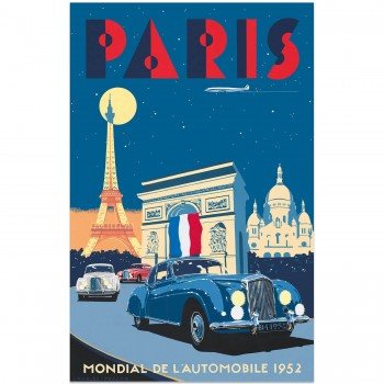 Bentley R Type Continental – Paris Mondial de l'Automobile 1952 | Poster