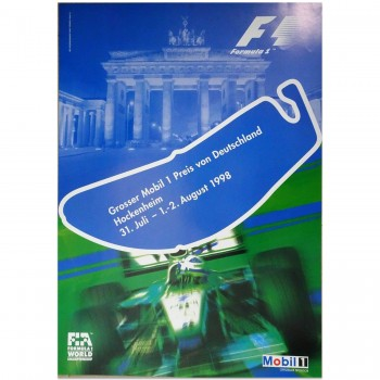 German | Grand Prix 1998 | Poster