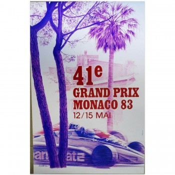 French | Monaco Grand Prix 1983 | Poster