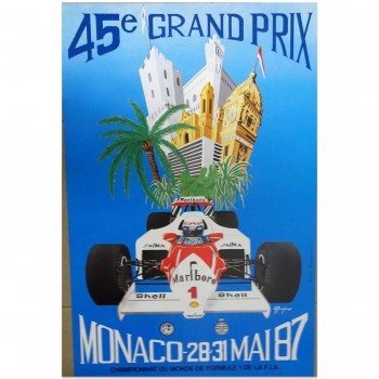 French | Monaco Grand Prix 1987 | Poster