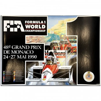 French | Monaco Grand Prix 1990 Poster